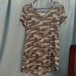 Maurices 24/7 Lace Up Back Tee